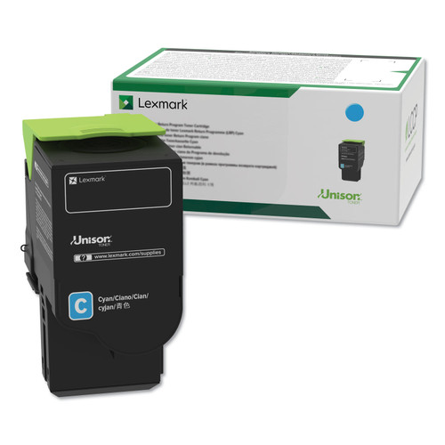 OEM Lexmark C231HC0 Cyan High Yield Toner Cartridge [2,300 Pages]