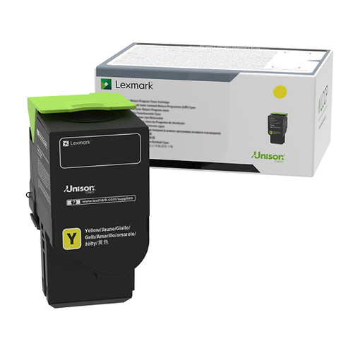 OEM Lexmark C241XY0 Yellow Extra High Yield Toner Cartridge [3,500 Pages]