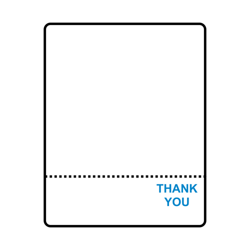 "2.625"" x 3.31"" Blue Thank You Scale Labels for Toledo 8425/8427/8450/8460/325 (T108) 