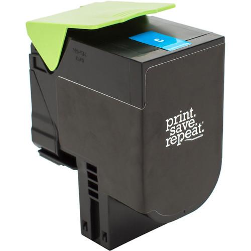 Print.Save.Repeat. Lexmark 700H2 Cyan High Yield Remanufactured Toner Cartridge for CS310, CS410, CS510 [3,000 Pages]