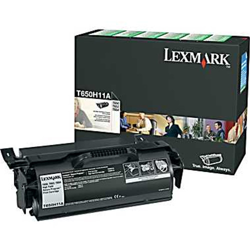 Genuine Lexmark T650H11A High Yield Toner Cartridge for T650, T652, T654 [25,000 Pages]