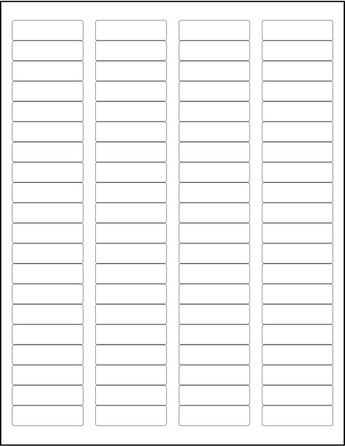 """White 80-Up Sheeted Labels for Laser Printers 1.75"""" x 0.5"""", Bulk Case of 80000"""