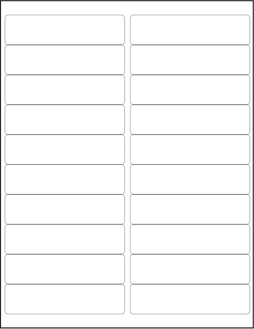 """White 20-Up Sheeted Labels for Laser Printers 4"""" x 1"""", Bulk Case of 20,000"""