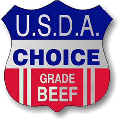 "1.3"" x 1.3"" - 1000 per roll. USDA Choice Beef Foil Shield"