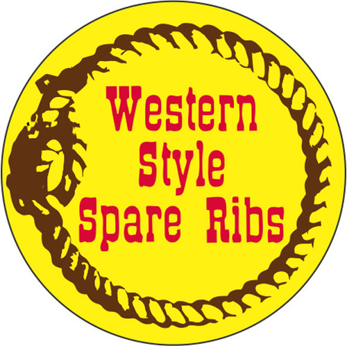 """1.5"""" Circle - 1000 per roll. Western Style Spare Ribs"""