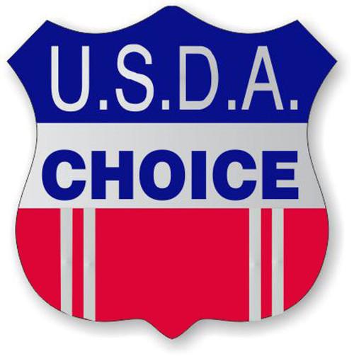"1.3"" x 1.3"" - 1000 per roll. USDA Choice Shield Foil Label"