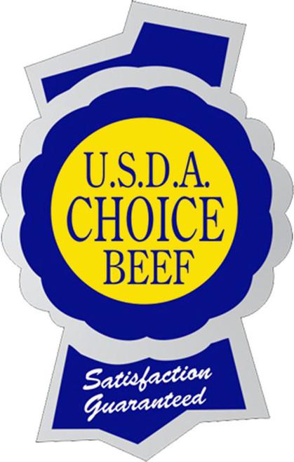 "1.5"" x 2.3"" - 500 per roll. USDA Choice Beef Foil Ribbon Label"