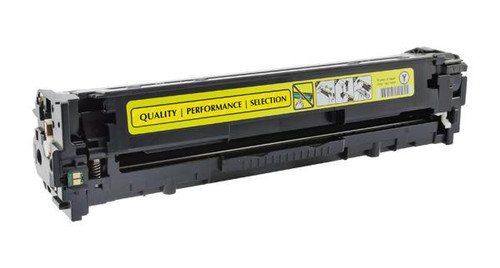 HP 128A (CE322A) Yellow Remanufactured Toner Cartridge [1,300 Pages]
