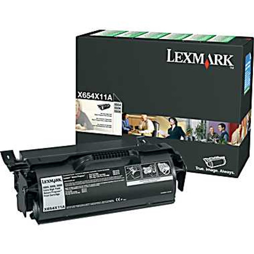 Genuine Lexmark X654X11A Extra High Yield Toner Cartridge for X651, X652, X654, X656, X658 [36,000 Pages]