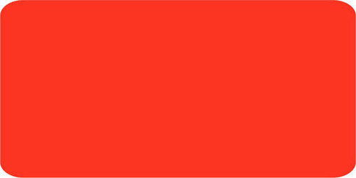 """1.5"""" x 3"""" - 1000 per roll. Blank Label on fluorescent red. Add your own message."""