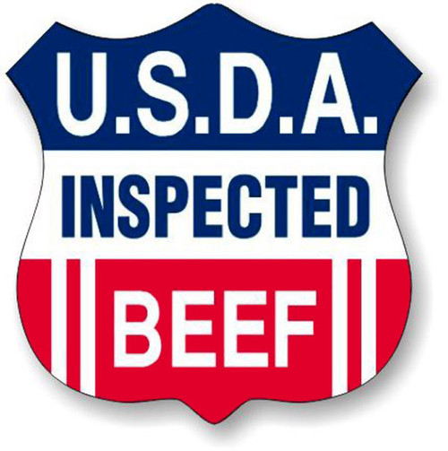 """1.3"""" x 1.3"""" - 1000 per roll. USDA Inspected Beef Shield"""