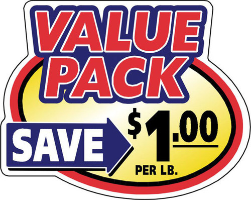 "2.4"" x 3"" - 500 per roll. Save $1.00 Lb - Value Pack Oval"
