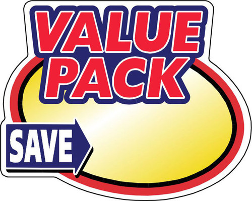 "2.4"" x 3"" - 500 per roll. Blank - Save Value Pack Oval"