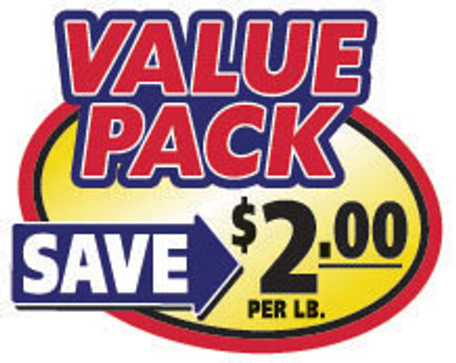 "2.4"" x 3"" - 500 per roll. Save $2.00 Lb - Value Pack Oval Label"