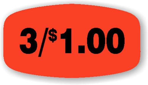 """3/$1.00 - No Minimum - .625"""" x 1.25"""" - 1000 per roll"""