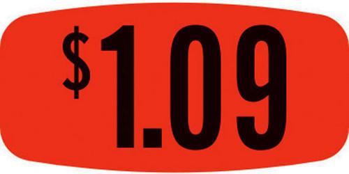 """$1.09 - No Minimum - .625"""" x 1.25"""" - 1000 per roll"""