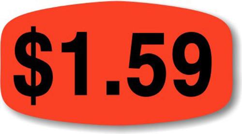 """$1.59 - No Minimum - .625"""" x 1.25"""" - 1000 per roll"""