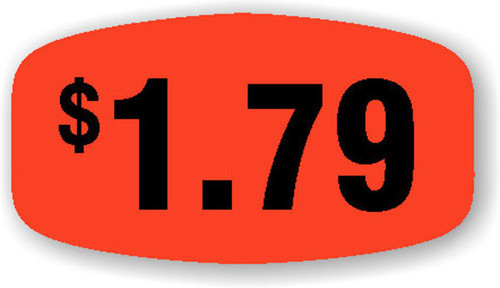 """$1.79 - No Minimum - .625"""" x 1.25"""" - 1000 per roll"""