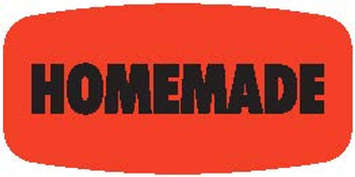 "Homemade - No Minimum - .625"" x 1.25"" - 1000 per roll"