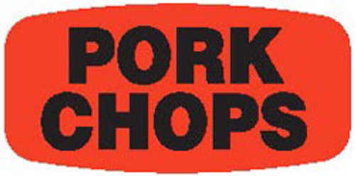 "Pork Chops - No Minimum - .625"" x 1.25"" - 1000 per roll"