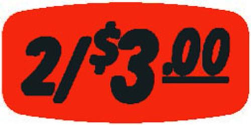 """2/$3.00 - No Minimum - .625"""" x 1.25"""" - 1000 per roll"""