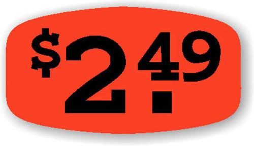 """$2.49 - No Minimum - .625"""" x 1.25"""" - 1000 per roll"""