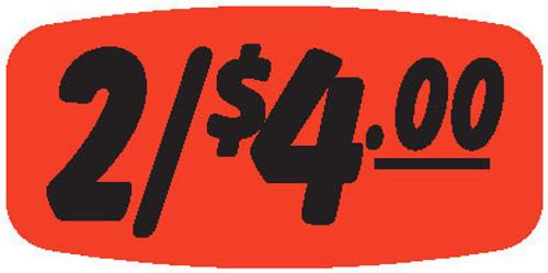 """2/$4.00 - No Minimum - .625"""" x 1.25"""" - 1000 per roll"""