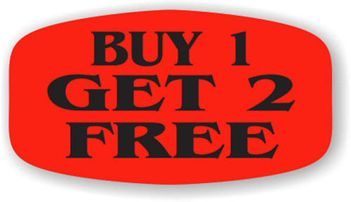 """Buy 1 Get 2 Free - 10 Roll Minimum - .625"""" x 1.25"""" - 1000 per roll. If you are ordering 10 ROLL MINIMUM Short Ovals, your ENTIRE ORDER will be shipped in approximately 14 Business Days."""