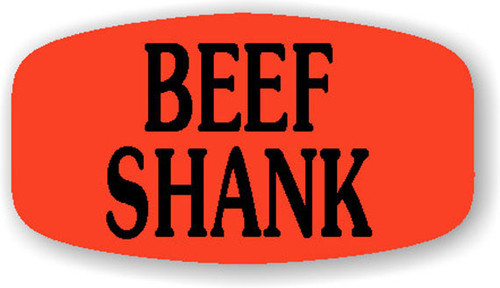 "Beef Shank - 10 Roll Minimum - .625"" x 1.25"" - 1000 per roll. If you are ordering 10 ROLL MINIMUM Short Ovals, your ENTIRE ORDER will be shipped in approximately 14 Business Days."
