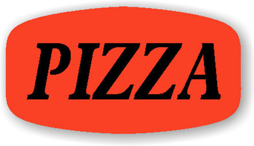 """Pizza - 10 Roll Minimum - .625"""" x 1.25"""" - 1000 per roll. If you are ordering 10 ROLL MINIMUM Short Ovals, your ENTIRE ORDER will be shipped in approximately 14 Business Days."""