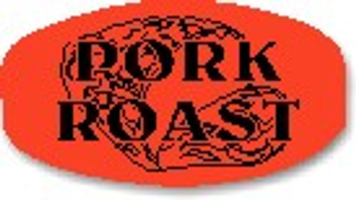 "Pork Roast - No Minimum - .625"" x 1.25"" - 1000 per roll"