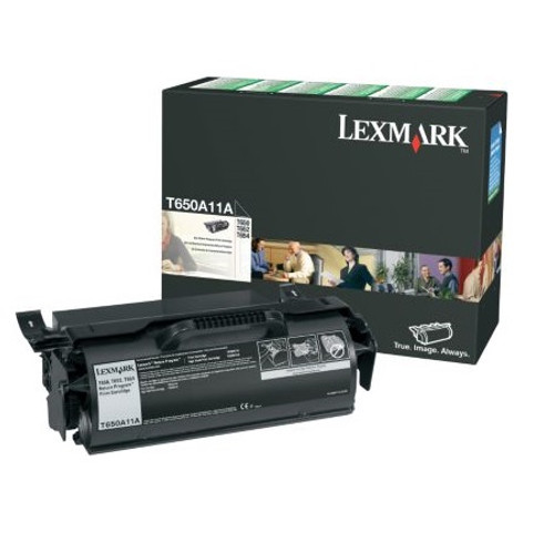 Genuine Lexmark T650A11A Toner Cartridge for T650, T652, T654 [7,000 Pages]