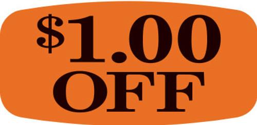 """$1.00 OFF - No Minimum - .625"""" x 1.25"""" - 1000 per roll"""