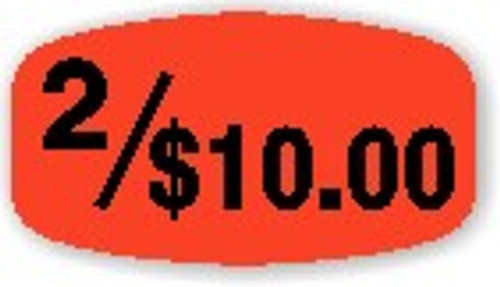 """2/$10.00 - 10 Roll Minimum - .625"""" x 1.25"""" - 1000 per roll. If you are ordering 10 ROLL MINIMUM Short Ovals, your ENTIRE ORDER will be shipped in approximately 14 Business Days."""