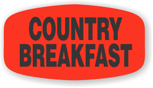 """Country Breakfast - 10 Roll Minimum - .625"""" x 1.25"""" - 1000 per roll. If you are ordering 10 ROLL MINIMUM Short Ovals, your ENTIRE ORDER will be shipped in approximately 14 Business Days."""