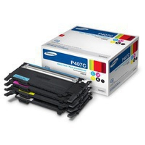 Genuine Samsung CLT-P407C Color Toner Cartridge Combo Pack Black, Cyan, Magenta, Yellow