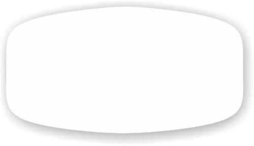 "Blank (White) - No Minimum - .625"" x 1.25"" - 1000 per roll"