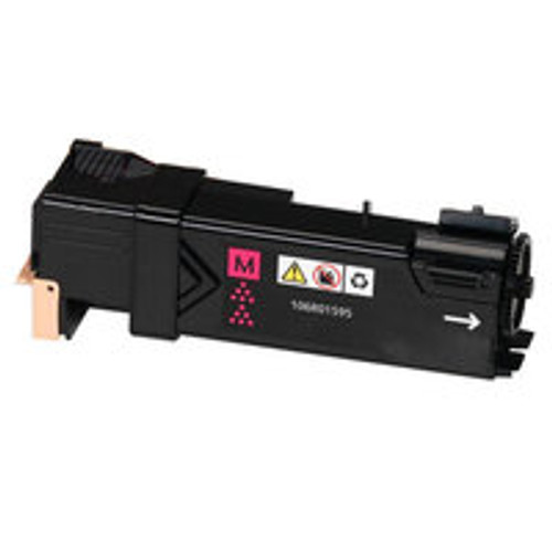 Genuine Xerox 106R01595 Magenta High Yield Toner Cartridge for Phaser 6500, WorkCentre 6505 [2,500 Pages]