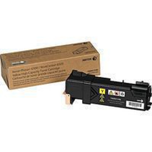 Genuine Xerox 106R01596 Yellow High Yield Toner Cartridge for Phaser 6500, WorkCentre 6505 [2,500 Pages]