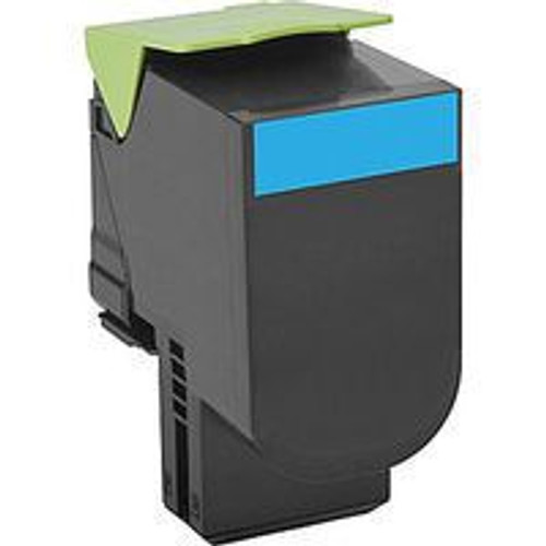 Genuine Lexmark 801HC Cyan High Yield Toner Cartridge for CX410, CX510 [3,000 Pages]
