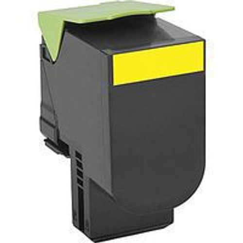 Genuine Lexmark 801HY Yellow High Yield Toner Cartridge for CX410, CX510 [3,000 Pages]