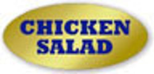 ".875"" x 1.9"" - 500 per roll. No Minimum Order. Chicken Salad Gold Foil Title Label."