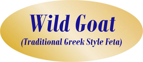 """.875"""" x 1.9"""" - 500 per roll. 10 ROLL MINIMUM Order. Wild Goat Gold Foil Descriptive Label. If you are ordering 10 ROLL MINIMUM Gold Foils, your ENTIRE ORDER will be shipped in approximately 14 Business Days."""