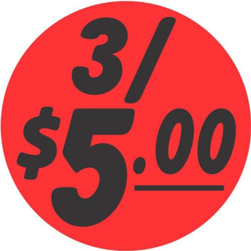 "1.25"" Circle - 1000 per roll. 3/$5.00 - Bullseye on fluorescent red."