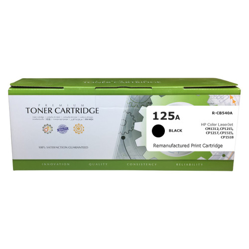 HP CB540A (125A) Black Remanufactured Toner Cartridge [2,200 Pages]