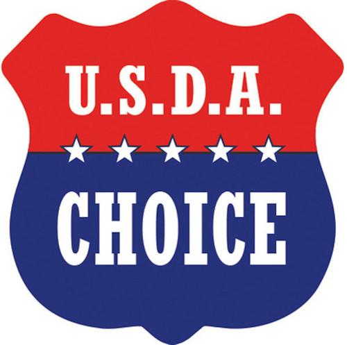 "1.3"" x 1.3"" - 1000 per roll. U.S.D.A. Choice Shield"