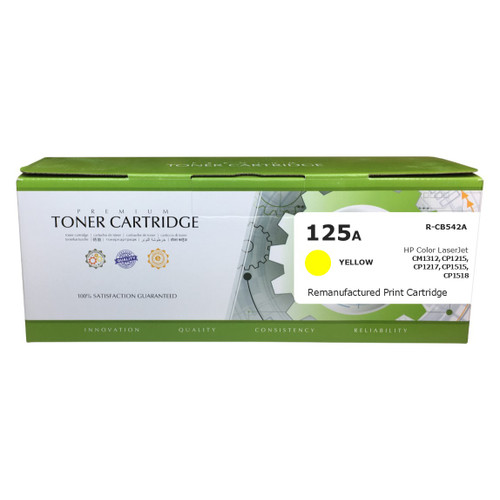 HP CB542A (125A) Yellow Compatible Toner Cartridge [1,400 Pages]