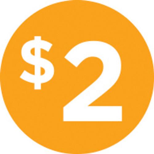 """1"""" Circle - 1000 per roll. $2 (icon)"""