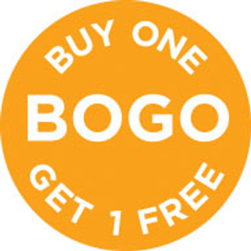 """1"""" Circle - 1000 per roll. BOGO - Buy One Get One Free (icon)"""