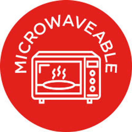 """1"""" Circle. 1000 per roll.Microwaveable Icon Label"""